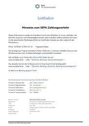Hinweise zum SEPA-Zahlungsverkehr - Bank für Sozialwirtschaft