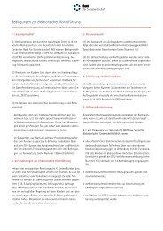 Bedingungen zur elektronischen Kontoführung - Bank für ...