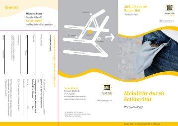 Flyer Mobilität für Solidarität - Soziale Hilfe eV Kassel