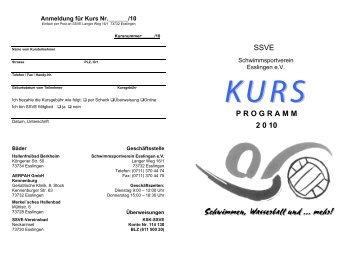 SSVE P R O G R A M M 2 0 10 - Schwimmsportverein Esslingen eV