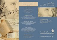 Faltblatt zur Ausstellung (pdf) - Staatsbibliothek Bamberg