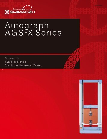 Autograph AGS-X Series