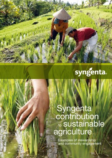 Syngenta contribution sustainable agriculture