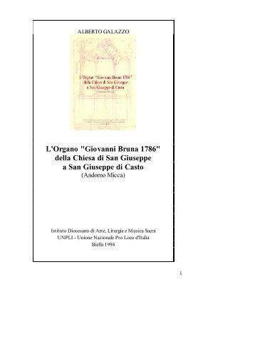 """L'Organo """"Giovanni Bruna 1786"""" della Chiesa di San Giuseppe a ..."""