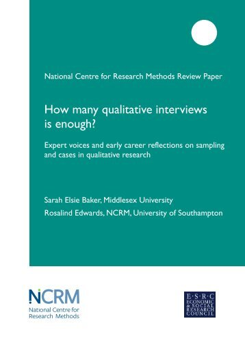 """guide to writing qualitative research paper Assignment 5: qualitative research checklist"""" is provided in the next page to guide you chapter of the course textbook and papers will provide you."""