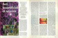 Mantenere in vita colture di neuroni stabilmente accoppiati a ...