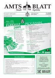 Amtsblatt 06 2009 - Apolda