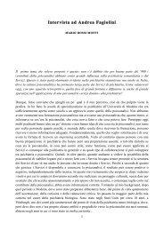 Intervista ad Andrea Fagiolini - Psiche