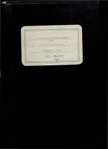Sterberegister der Jahre 1968 - 1978