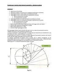 Formule per il calcolo degli elementi geometrici – dentature esterne ...