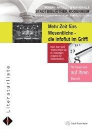 Zeit für's Wesentliche - Stadtbibliothek am Salzstadel Rosenheim