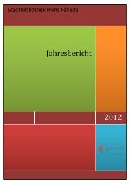2012 Jahresbericht - Stadtbibliothek Hans Fallada