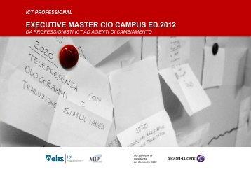 EXECUTIVE MASTER CIO CAMPUS ED.2012