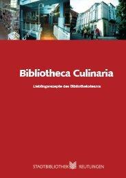 Bibliotheca Culinaria - Stadtbibliothek Reutlingen