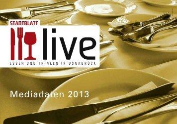 Mediadaten 2013 - Stadtblatt Osnabrück