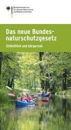 Das neue Bundesnaturschutzgesetz - Einheitlich und ... - Duisburg
