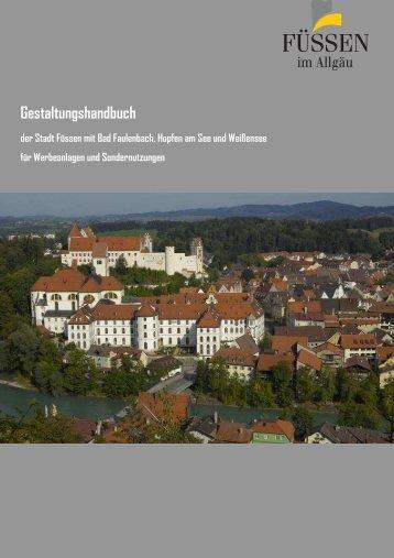 Gestaltungshandbuch der Stadt Füssen