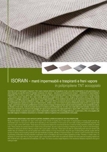 IsOrAIN - manti impermeabili e traspiranti e freni vapore ... - Edilportale