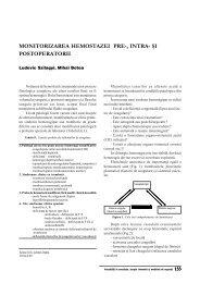 Monitorizarea hemostazei - ati | anestezie terapie intensiva