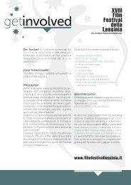 Get Involved è l'iniziativa promossa dal Film Festival della Lessinia ...