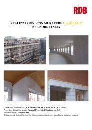 realizzazioni con murature gasbeton nel nord italia - Rdb