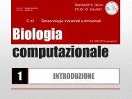 Biologia_computazion.. - Università degli Studi di Milano