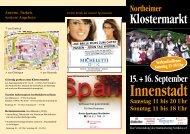 Klostermarkt-Flyer - Stadtmarketing Northeim e.V.