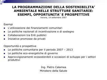 Relazione di Pietro Calamea - Azienda Ospedaliera Universitaria ...