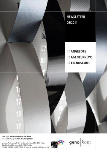September 2011 - geno kom Werbeagentur GmbH