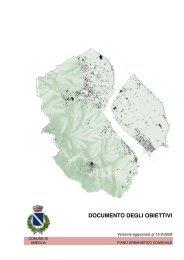 (pdf) degli obiettivi del piano urbanistico comunale - Comune di ...