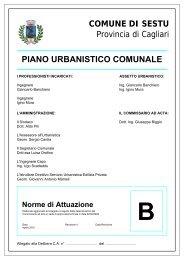 PIANO URBANISTICO COMUNALE - Comune di Sestu