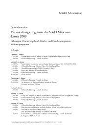 Veranstaltungsprogramm des Städel Museums Januar 2008