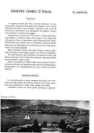 GINEVRA LEMBO D' ITALIA - Consolato Generale d'Italia