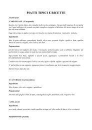 Piatti tipici e ricette - Comune di Lucera