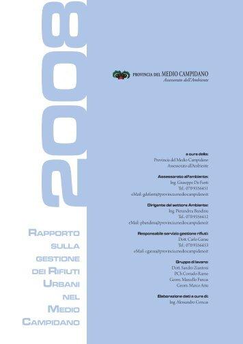 Consulta il Rapporto 2008 sulla gestione dei Rifiuti - Provincia del ...