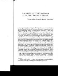 la spiritualità ignaziana e la psicologia positiva - Hofstra People