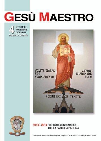 Gesù Maestro N. 4 - 2012 - San Paolo