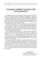 """""""Il Naturalista Valtellinese"""" fascicoli 1-6, 1885 (ristampa anastatica)"""