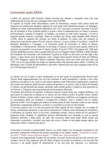 Commento canto XXXIII