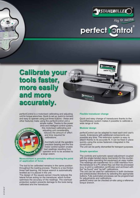 perfectControl is a motorised calibrating and adjusting ... - Stahlwille