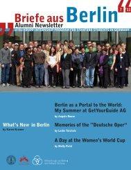 Briefe ausBerlin - Stanford University in Berlin