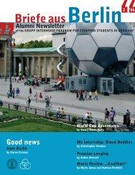 Newsletter 2006 300 dpi. - Stanford University in Berlin - Freie ...