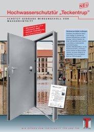 """Hochwasserschutztür """"Teckentrup''"""
