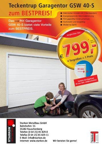 Garagentor-Aktion 2012