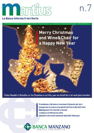 Merry Christmas and Wine&Chair for a Happy New Year - Banca di ...
