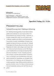 Sperrfrist: Freitag, 2.9., 13 Uhr - Edelstahl Rosswag