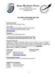 Gara F5B 2012 DEUTSCH - Gruppo Modellistico Pratese
