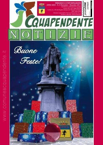 Novembre - Dicembre 2011 - Comune di Acquapendente
