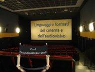 Linguaggi e formati del cinema e dell'audiovisivo - Dipartimento di ...