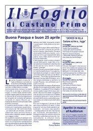 foglio castano aprile 11 - Comune di Castano Primo